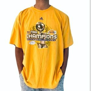 Adidas 2009 The Finals LA Lakers Champions T-Shirt